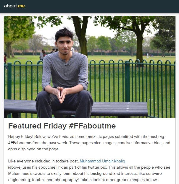 Featured Friday on About.me